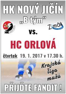 """Hokej """"B"""" tým: HC Orlová x HK Nový Jičín"""