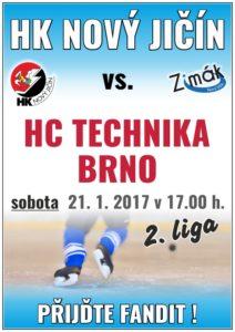 Hokej II. liga: HC Technika Brno x HK Nový Jičín