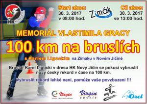 100 km na bruslích - pokus o rekord Karla Ligockeho