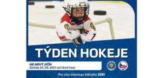 Rodiče, vemte děti a přijďte na akci Týden hokeje: u nás ve středu 20.9.